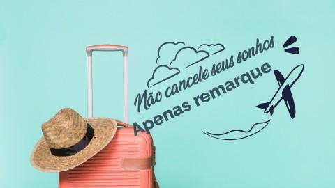 Imagem representativa: Não cancele sua viagem - Remarque e ajude o turismo a passar por essa fazer