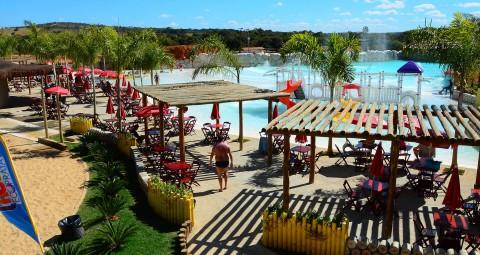 Lagoa Termas Parque e Lagoa Ecopraia em Caldas Novas GO